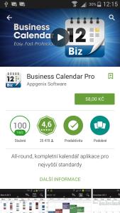 Obchod Play - detail aplikace