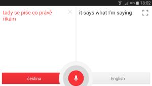 okno pro přímou konverzaci