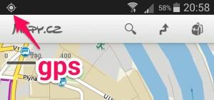 Tato ikona se objeví, pokud je GPS puštěna