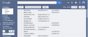 Zobrazení kontaktů v GMailu