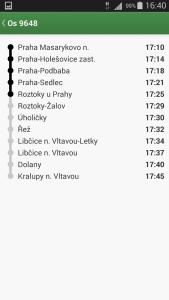 Pubtran - seznam stanic