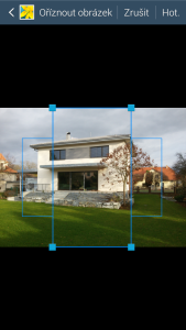 Určení výřezu pro horizontální a vertikální zobrazení