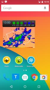 Widget aplikace Meteor