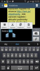 Lišta s ikonami přímo u textu