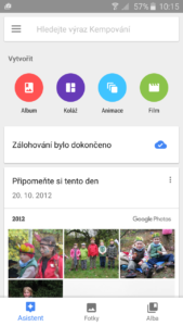 Fotky Google - Asistent